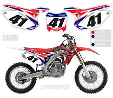 HONDA MOTOCROSS BACKGROUNDS NUMBER BOARDS MX GRAPHICS CR CRF 50 85 125 250F 450F