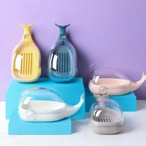 Bathroom Soap Cute Cartoon whale Soap Holder Travel Container Soap Tray