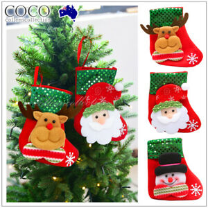 Christmas Stocking Socks  Xmas Wall Tree Party Hanging Gift Candy Bags Decor