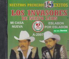 Los Invasores de Nuevo Leon Nuestros Primeros 15 Exitos CD New Nuevo Sealed