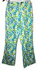 Vanessa Riley London Colorful Fun Geo Print Textured Flat Front Rear Zip Pant 2