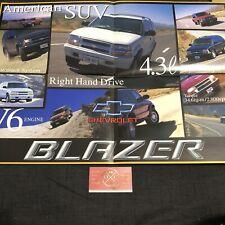2000 Chevrolet Blazer Poster Brochure Japanese Catalog 95-05 Corvette C5-R S-10