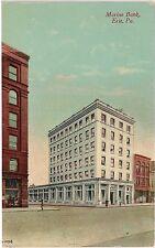 Marine Bank in Erie PA Postcard