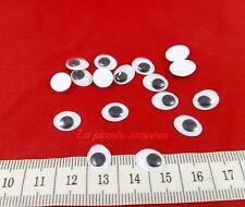 50 occhi occhietti mobili 10 x 8 mm pupazzi bambole amigurumi uncinetto cucito