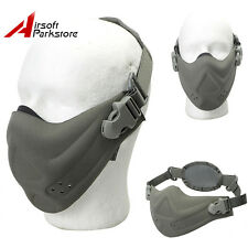 Tactical Outdoor Half Face Mask Airsoft Paintball Hunting CS Mouth Guard Gray
