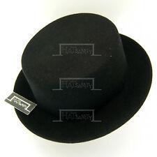 Wool Felt Boater Panama Top Hat Unisex   58cm   Black Red Brown Green Beige Blue
