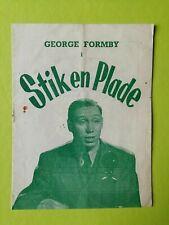 "Vintage Danish Film Program. ""Feather Your Nest"" 1937.George Formby."