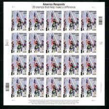 America Responds 911 Firemen World Trade Center Semi Postal 34+11¢ B2  (blkhco5)