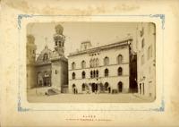Algérie, Le Palais du Gouverneur & La Cathédrale  Vintage albumen print.  Tira