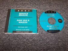 2001 Dodge Ram Van Wagon 1500 2500 3500 Shop Service Repair Manual DVD 3.9L 5.2L