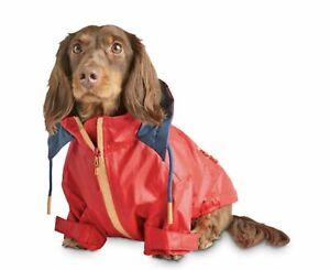 Reddy S  Dog Windbreaker Hooded Red Raincoat  Jacket Water Resistant