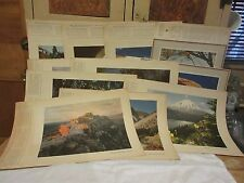 11 Vtg Original 1940's Standard/Chevron Stations Give-Away Prints