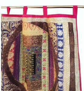 """33% OFF 90"""" PINK VINTAGE PATCHWORK DOOR CURTAIN DRAPES VALANCE TAPESTRY PANEL"""