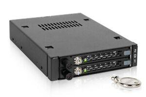 """Icydock MB492SKL-B ToughArmor EX 3.5"""" Mobile Rack->Dual 2.5"""" SATA/SAS HDD & SSD"""