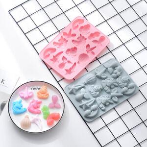 Unicorn Rainbow Silicone Cake Chocolate Baking Mold Mermaid Tray Jelly Mould DIY
