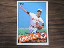 1985 Topps # 199 DENNIS MARTINEZ Autographed / Signed Card (C) Baltimore Orioles