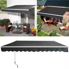 Aluminium Markisen Gelenkarmmarkise Sonnenschutz Terrasse Balkon Grau Wasserdich