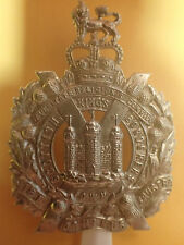 The Kings Own Scottish Borderers, cap badge, circa 1953-2006, white metal