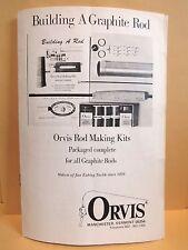 "Vintage Paperback Booklet / ""Building A Graphite Rod""/ Orvis Co."