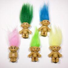 5pcs/lot 5 Colors Hair Trolls Family Mini Figures Anime Trolls Kids Toys