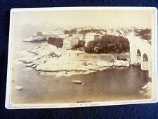 OLD ALBUMEN/CABINET CARD: MARSEILLE~ROUTE DE LA CORNICHE~ca 1870