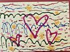 art card, ACEO, dorisann1022, original art, markers, drawing,  abstract. Heart