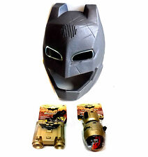 DC Comics BATMAN HELMET with sound & light FX + weapons for costume, Halloween