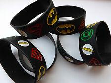 Superhero wristbands, boys birthday party bag filler Batman Superman superheroes