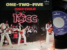 """7"""" - 10cc / One Two Five & Only Child - MINT 1980 Dutch"""