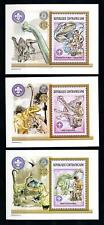 [77185] Central African Rep. 2002 Scouting Dinosaurs 3 Mini Sheets MNH