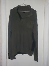 PULL OVER VERT KAKI - HOMME - GUESS - taille xl