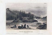 ERSTER TROLLHÀTTA-FALL in Schweden-StSt. um 1840 BIH-10,0x15,0 cm