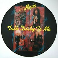 """EX/EX POISON TALK DIRTY TO ME 12"""" VINYL PIC  PICTURE DISC"""
