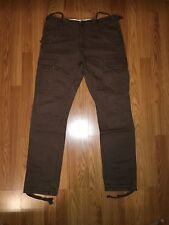 Who A.U Men's Brown Heavy Cargo Pants Size 34