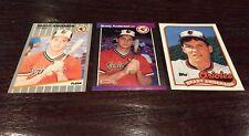 1989 Fleer Glossy Brady Anderson #606 Rookie Baltimore Orioles Plus 2 More