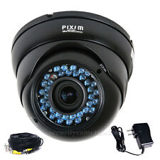 Outdoor Security Camera Pixim DPS WDR IR Day Night Varifocal Surveillance bms