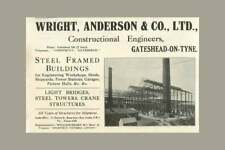 1922 Wright Anderson And Co, Construction Engineers Gateshead, Bridges, Cranes,