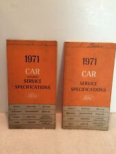 1971 FORD LINCOLN MERCURY Original Service Specifications Book and Supplement