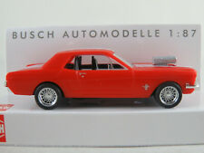 """Busch 47575 Ford Mustang Coupé (1964) """"Muscle-Car"""" in rot 1:87/H0 NEU/OVP"""