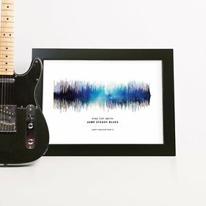 Personalised SPACE Sound Wave Print Anniversary Birthday Wedding Song Gift