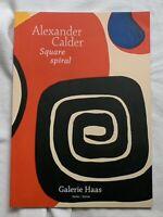 ALEXANDER CALDER catalog SQUARE SPIRAL Katalog SELTEN rare BERLIN
