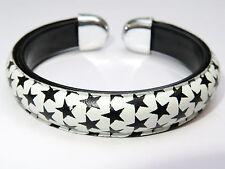 Nautical Star Tattoo Rockabilly Stars White Bangle Bracelet Wristband Unisex