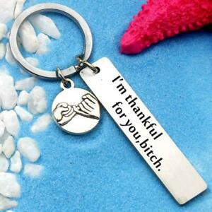 Key Chain Quote Friendship Gift Best Friend Key Chain Key Ring Gift LC