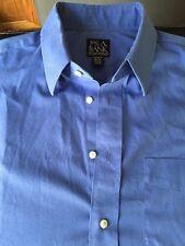 Jos A Bank Traveler's Collection Light Blue Button Down Dress Shirt Size 16 34