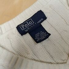 Polo Ralph Lauren Kids White Sweater Vest Size M