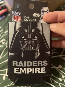 Las Vegas Raiders NFL Can Holder Cooler Bottle Sleeve Star Wars Team Darth Vader
