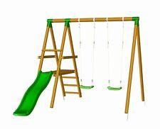 MASGAMES | Parque infantil MILOS | Columpio con tobogán | madera tratada |