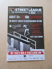 STREET LEAGUE SKATEBOARDING 2011 CHAMPIONSHIP POST CARD NYJAH HUSTON