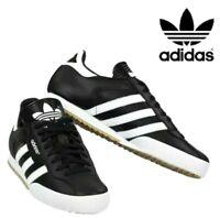 Adidas Originals Mens Samba Super Leather Trainers Casual Shoes Black/White
