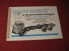 1962 Commer rig Semi Truck Sales Sheet Brochure Booklet Catalog Book Old